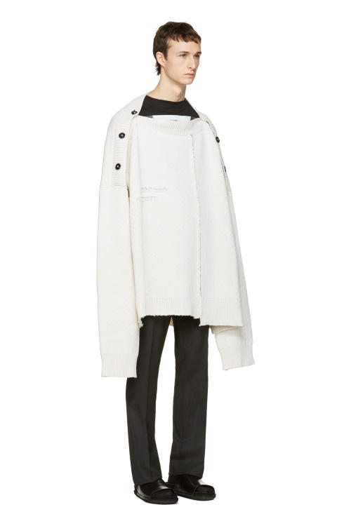 Raf Simons Oversized White Sweater
