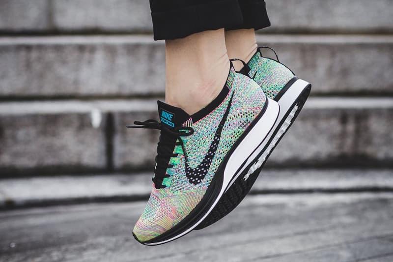 """Nike Flyknit Racer 2017 """"Multicolor"""" On Feet"""