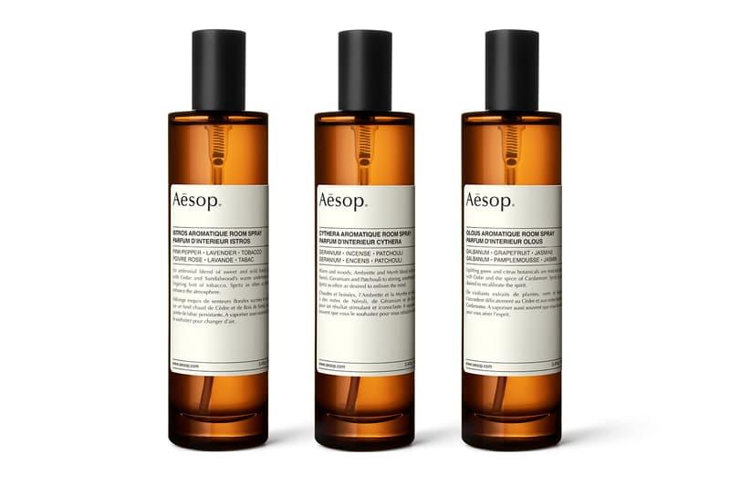 Aēsop 將首度推出室內噴霧「Aromatique Room Sprays」