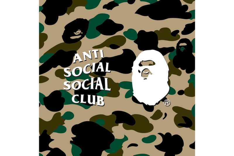實物上着-Anti Social Social Club x BAPE 定番外套