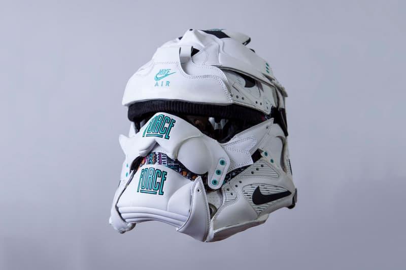以球鞋製作而成的《Star Wars》白兵面具