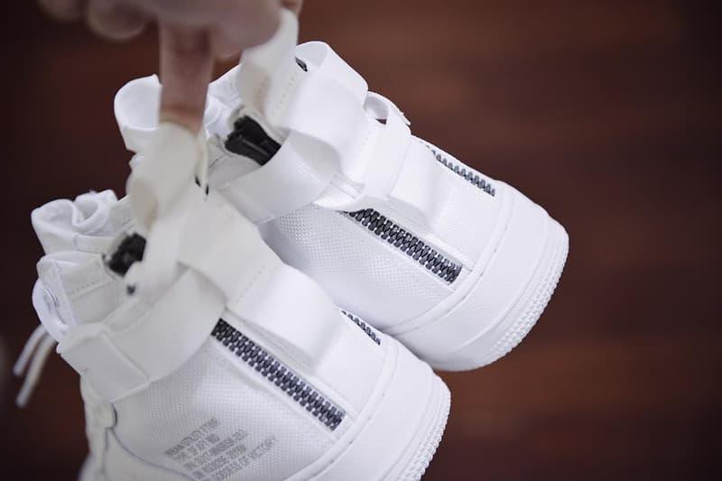 "Nike SF-AF1 Mid ""Triple White"" First Look"
