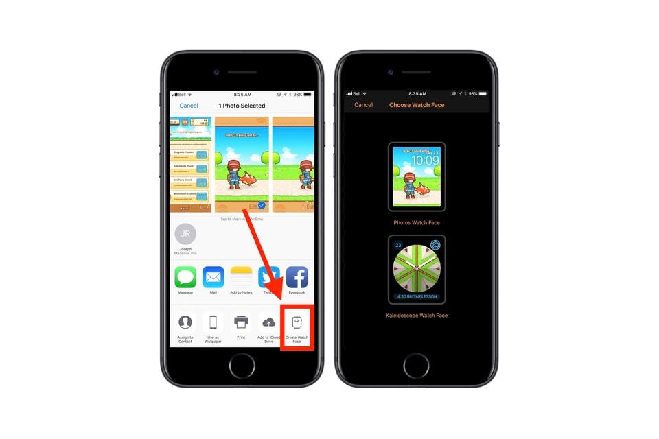 iOS 11 新發現 - 用家可隨意截圖自行定義 Apple Watch 錶面桌布