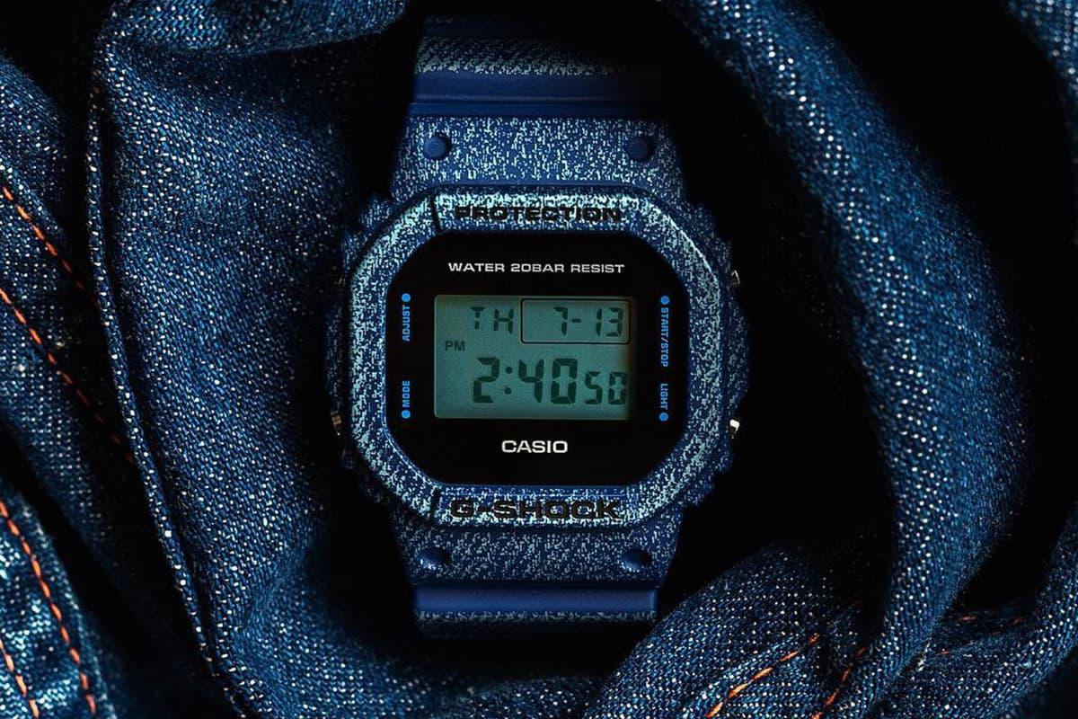 G-Shock Denim'D Color 系列丹寧物料「注入」