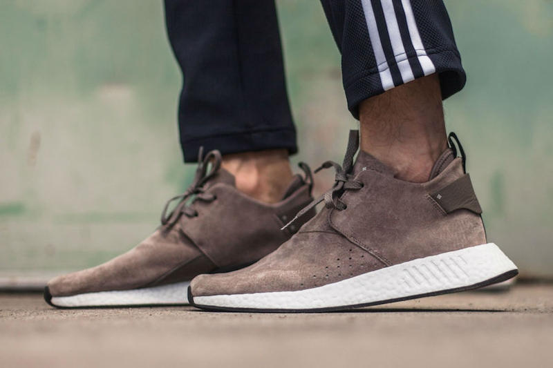 fe3d548df adidas Originals NMD C2 Brown Suede On-Feet