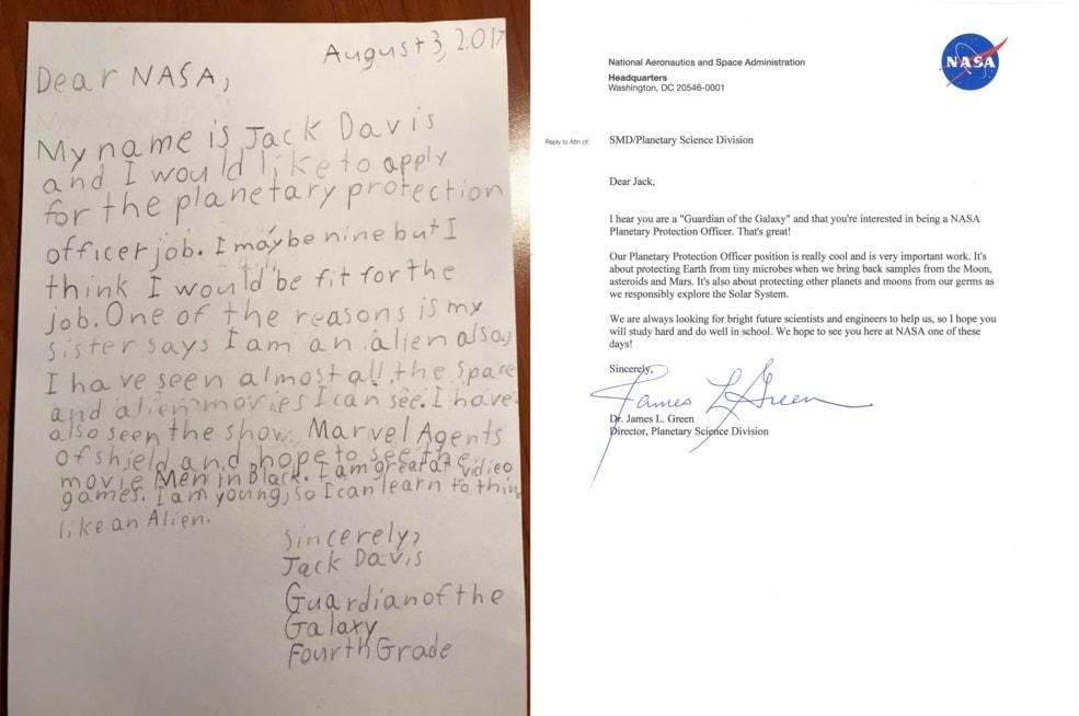年少多好-9 歲小童去信 NASA 應徵太空職位