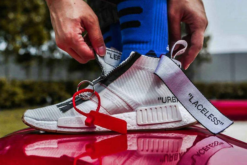 huge discount 59b1c 72b05 OFF-WHITE x adidas Originals NMD City Sock「聯名」定製配色 ...