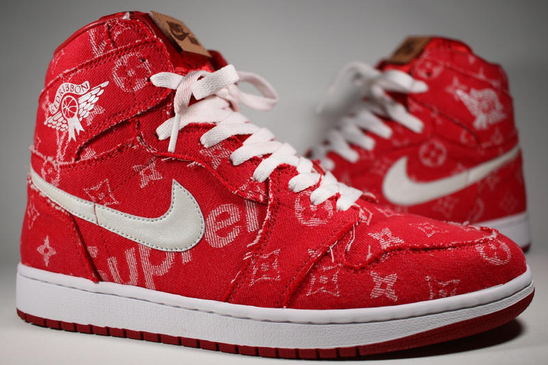 Supreme x Louis Vuitton Air Jordan 1 Custom