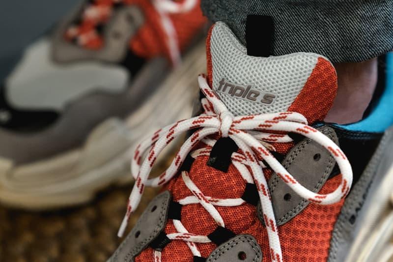 近賞 Balenciaga Triple S 復古運動鞋