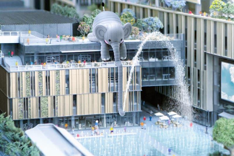 Florentijn Hofman 與 AllRightsReserved 打造大型户外大象藝術裝置「Bubblecoat Elephant」