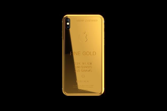 最高奢華-Brikk 推出售價達 70,000 美元的鍍金版 iPhone X