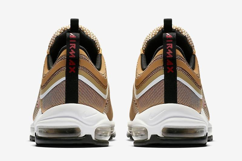 全方位檢視-Nike Air Max 97 Ultra「Metallic Gold」元祖金色升級重塑