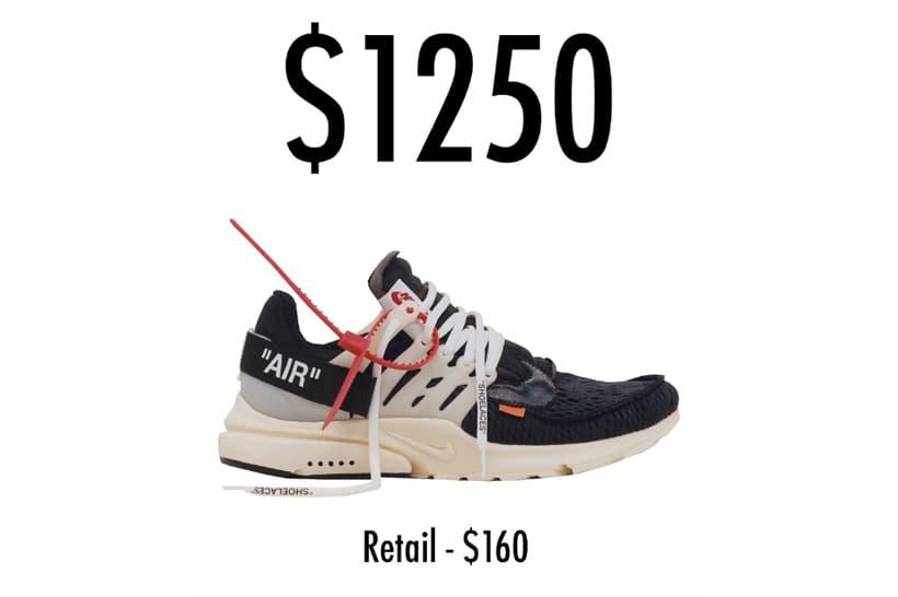 十倍之多 − Virgil Abloh x Nike「The Ten」聯乘系列平均炒價曝光