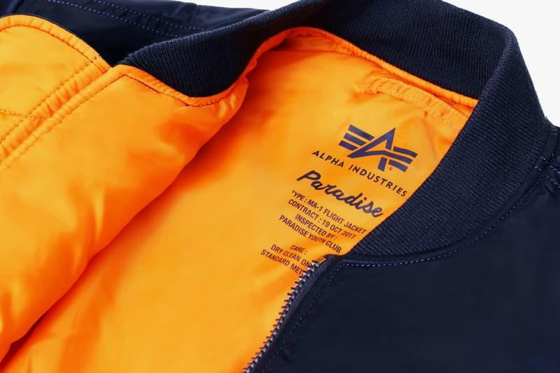 Alpha Industries 與 Paradise Youth Club 重塑標誌性 MA-1 飛行外套