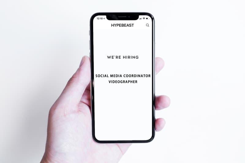 HYPEBEAST 中文版誠招香港地區 Social Media Coordinator / Videographer
