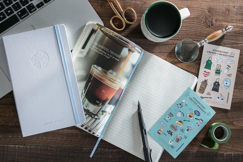 香港 Starbucks 與 Moleskine 首度推出聯乘版筆記本