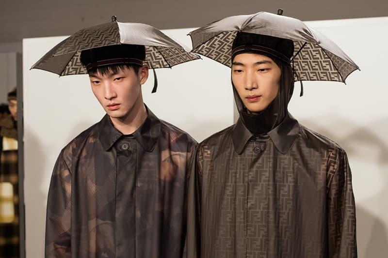 Fendi AW18 umbrella hat
