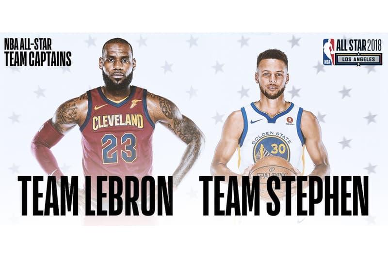 NBA 2018 年明星賽將由 LeBron James 與 Stephen Curry 擔任隊長