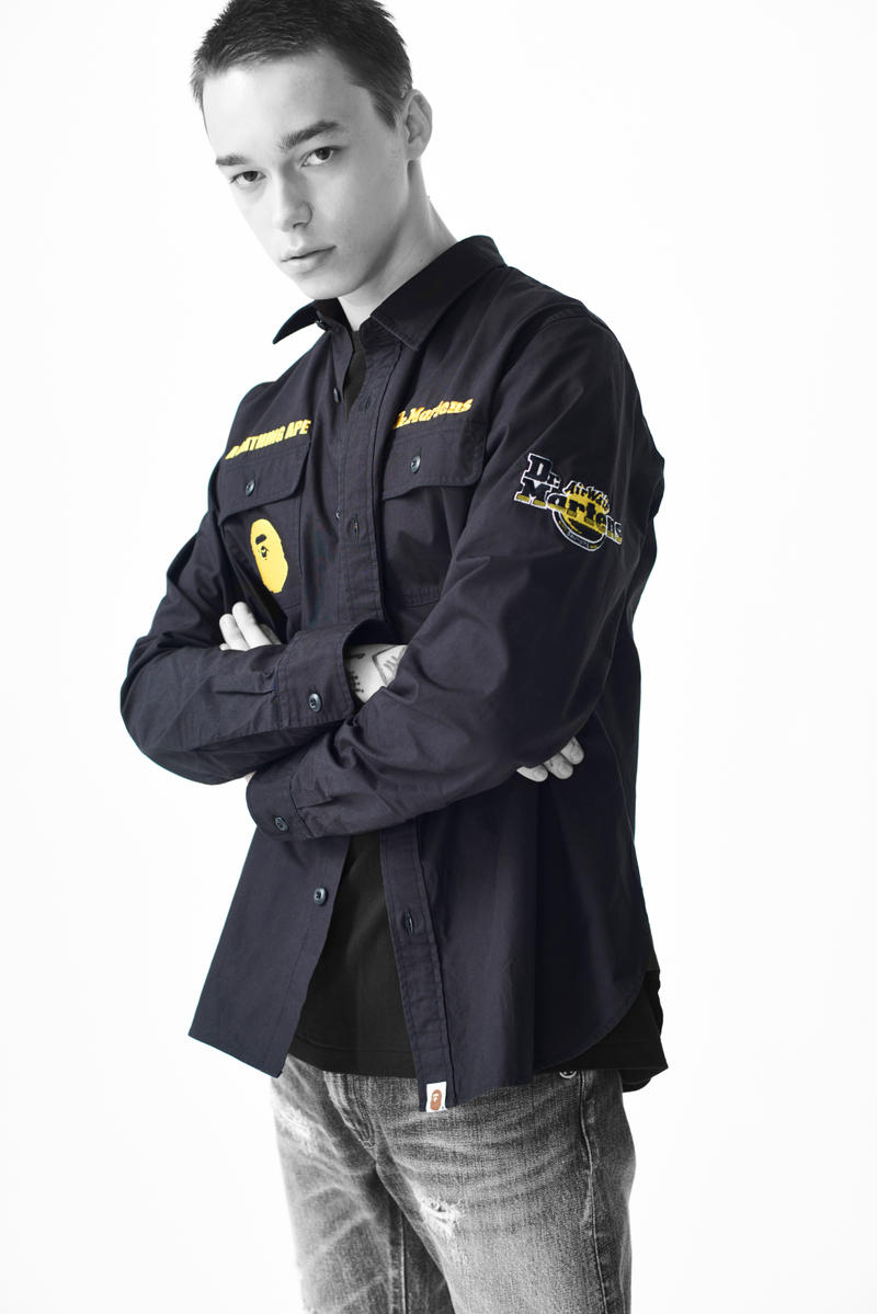 馬田一猿-A BATHING APE® × DR.MARTENS 聯乘系列 Lookbook 發佈