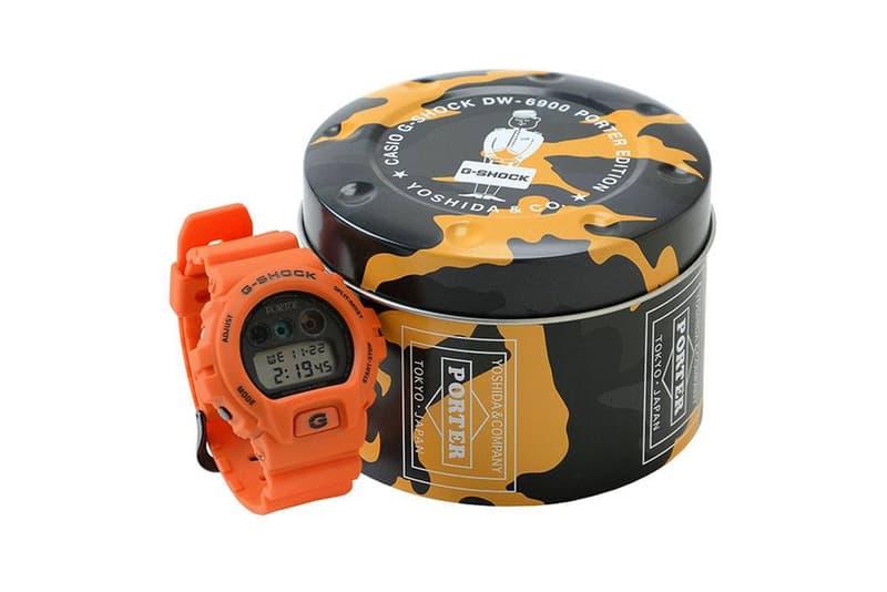 PORTER x G-SHOCK 2018 年別注 DW-6900 手錶香港上架情報