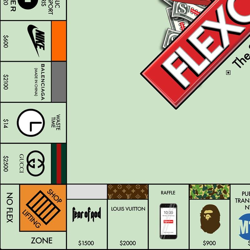 插畫家 no.sply 打造充滿潮流時尚氣息的大富翁「Flexopoly」