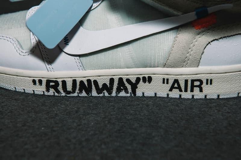 Virgil Abloh x Air Jordan 1 白色版正式亮相 Off-White™ 2018 秋冬系列發佈會