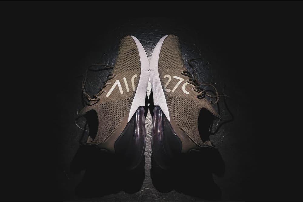 搶先預覽 Nike Air Max 270 Flyknit 棕色版本