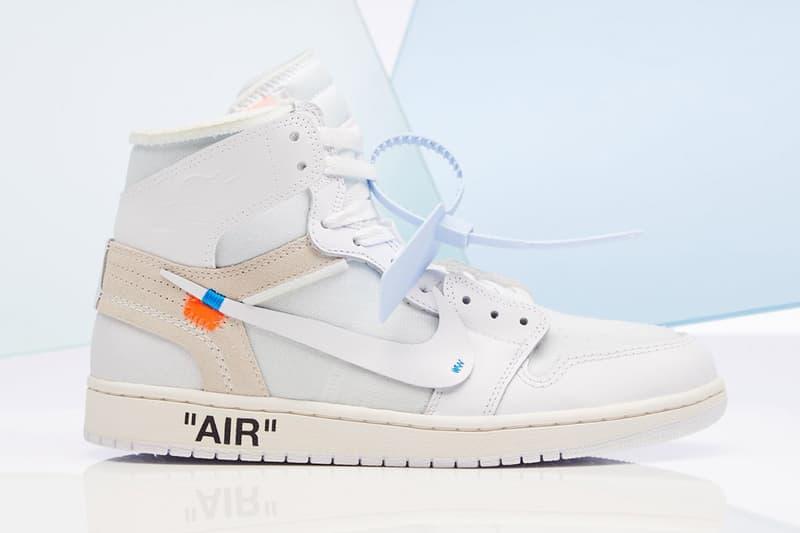白色版 Virgil Abloh x Air Jordan 1 官方發售店舖完整公開