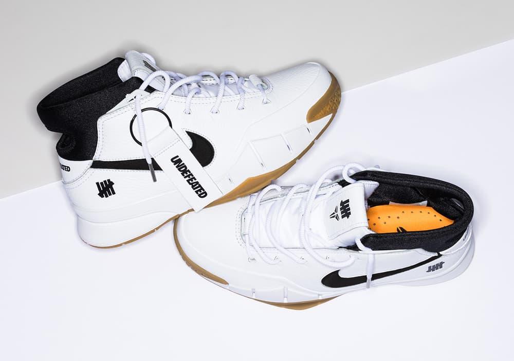 近賞 UNDEFEATED x Nike Kobe 1 Protro 白色聯名設計