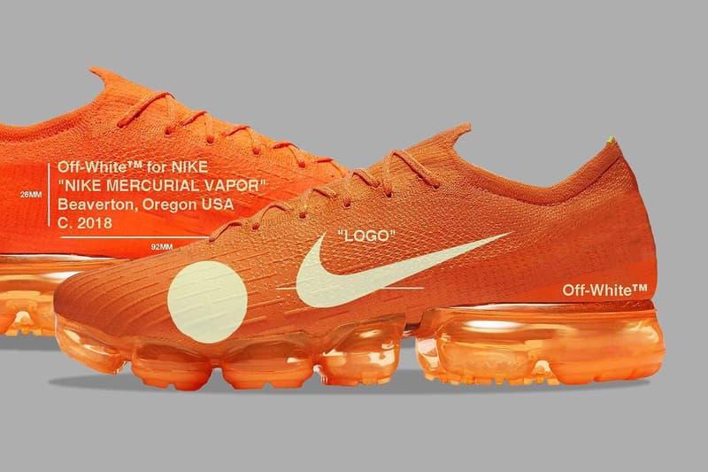 e06fc03e183 Virgil Abloh x Nike Mercurial VaporMax Hybrid 聯乘鞋款全貌概念圖一覽 ...