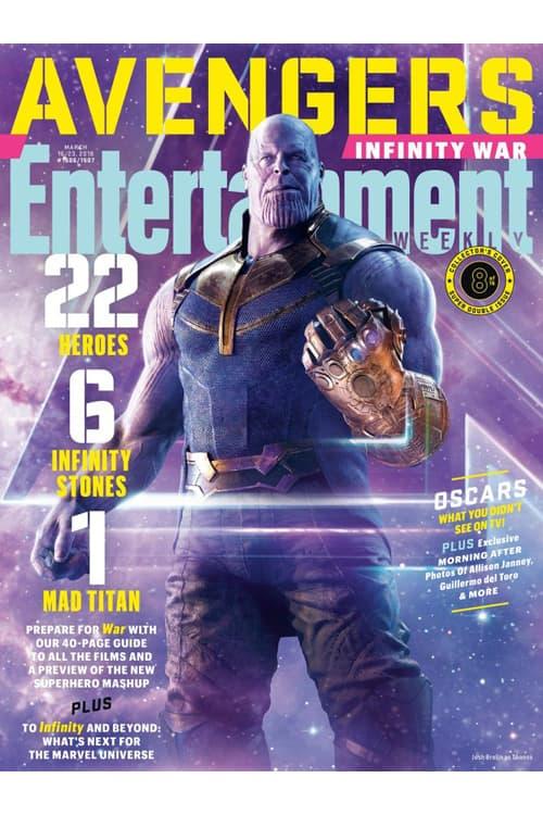 《Avengers: Infinity War》重磅登上《Entertainment Weekly》最新一期封面