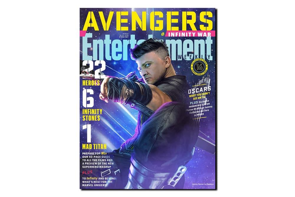 無奈自嘲-Jeremy Renner 分享 Hawkeye 版本的《Entertainment Weekly》封面
