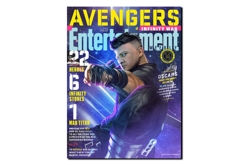 無奈自嘲-Jeremy Renner 分享 Hawkeye 版本的《Entertainment Weekly》封面
