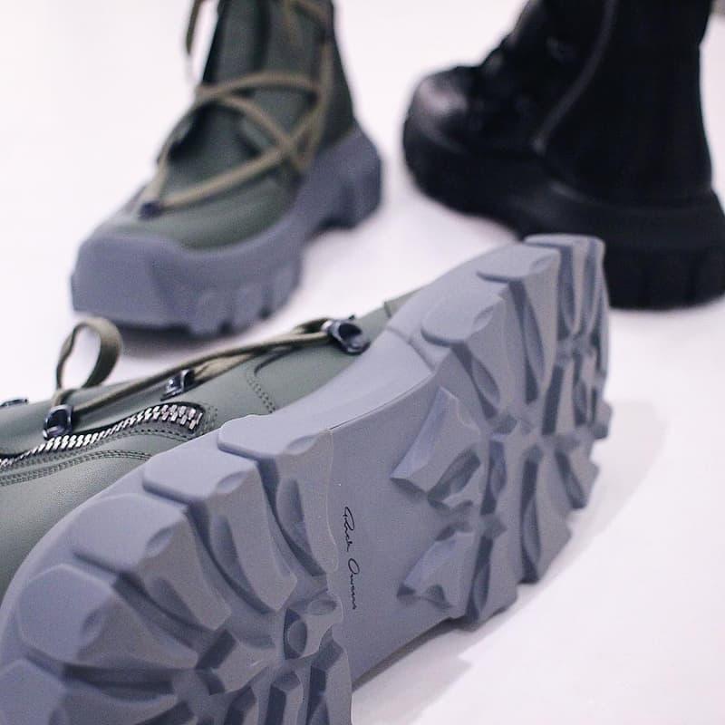 Rick Owens 全新 Lace-Up Hiking Boots 更多諜照釋出