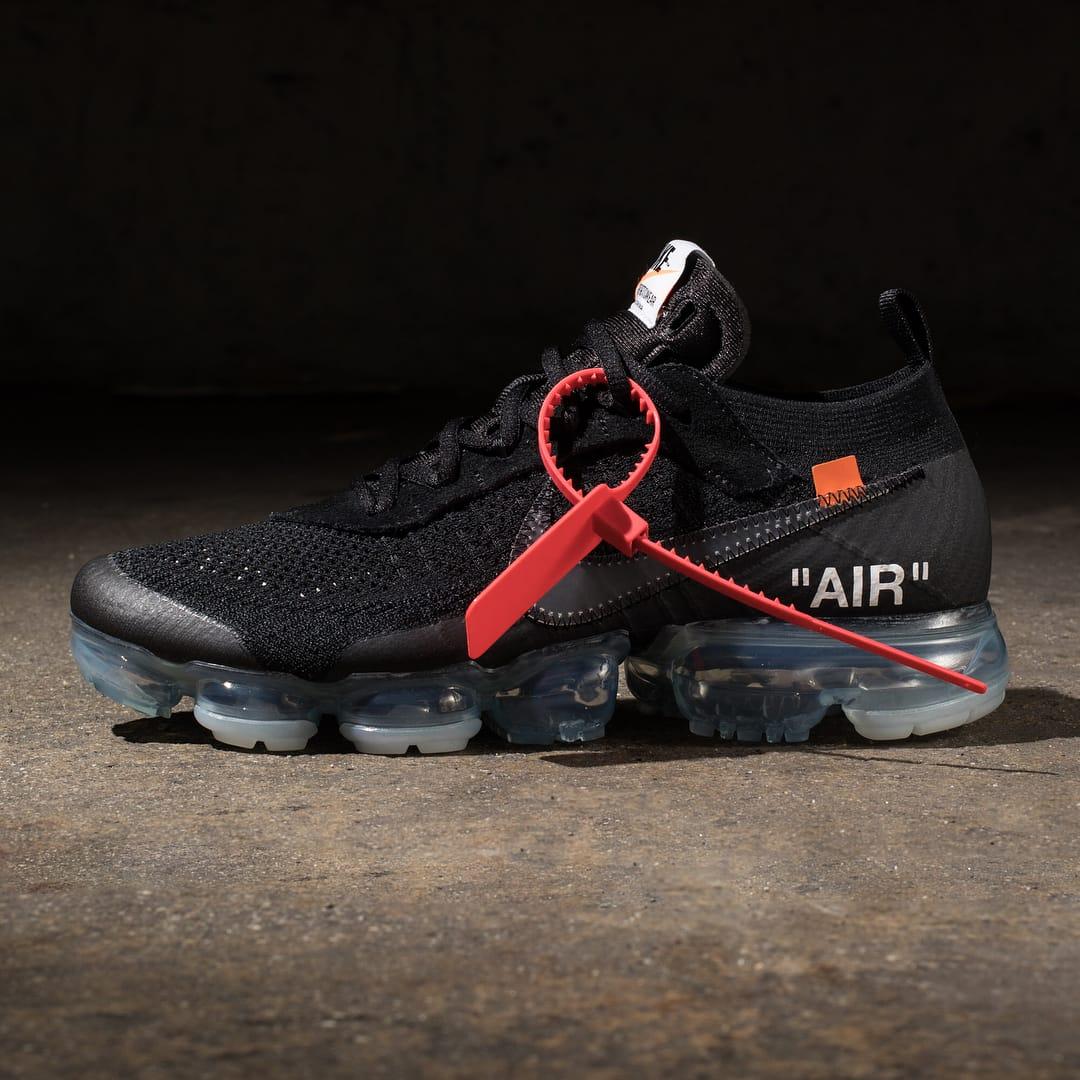 2018 黑色版Virgil Abloh x Nike Air VaporMax「The Ten」正式開放抽籤