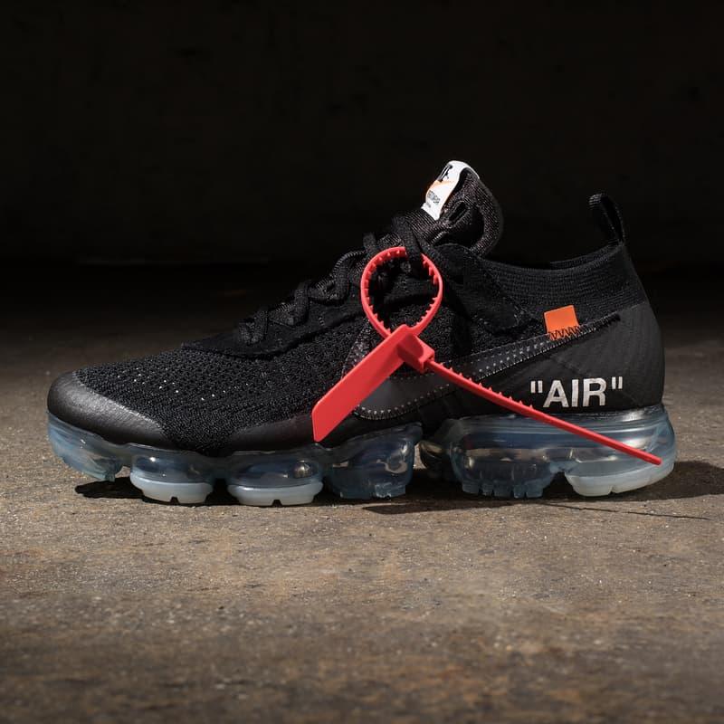 2018 黑色版 Virgil Abloh x Nike Air VaporMax「The Ten」正式開放抽籤登記