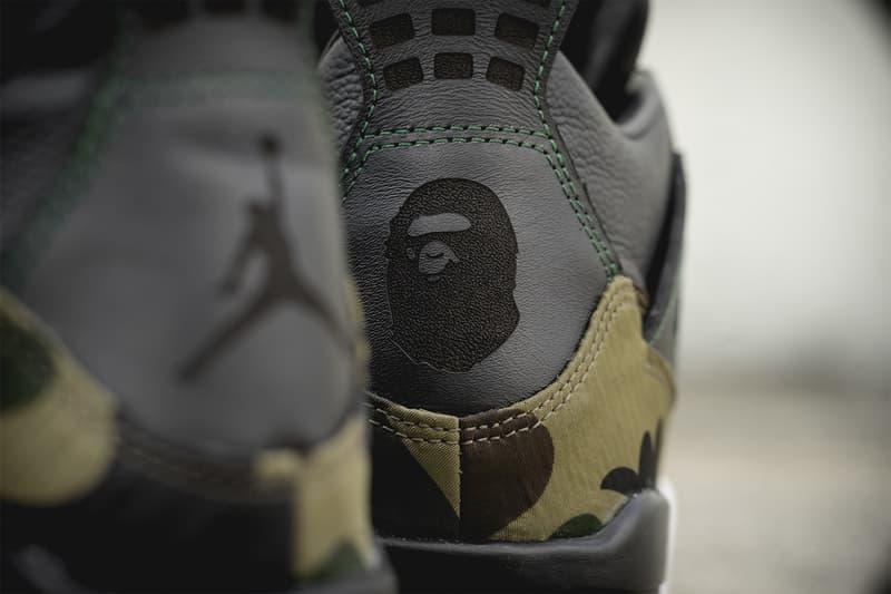 BespokeIND 打造 A BATHING APE® x Air Jordan 4「聯乘」定製鞋款