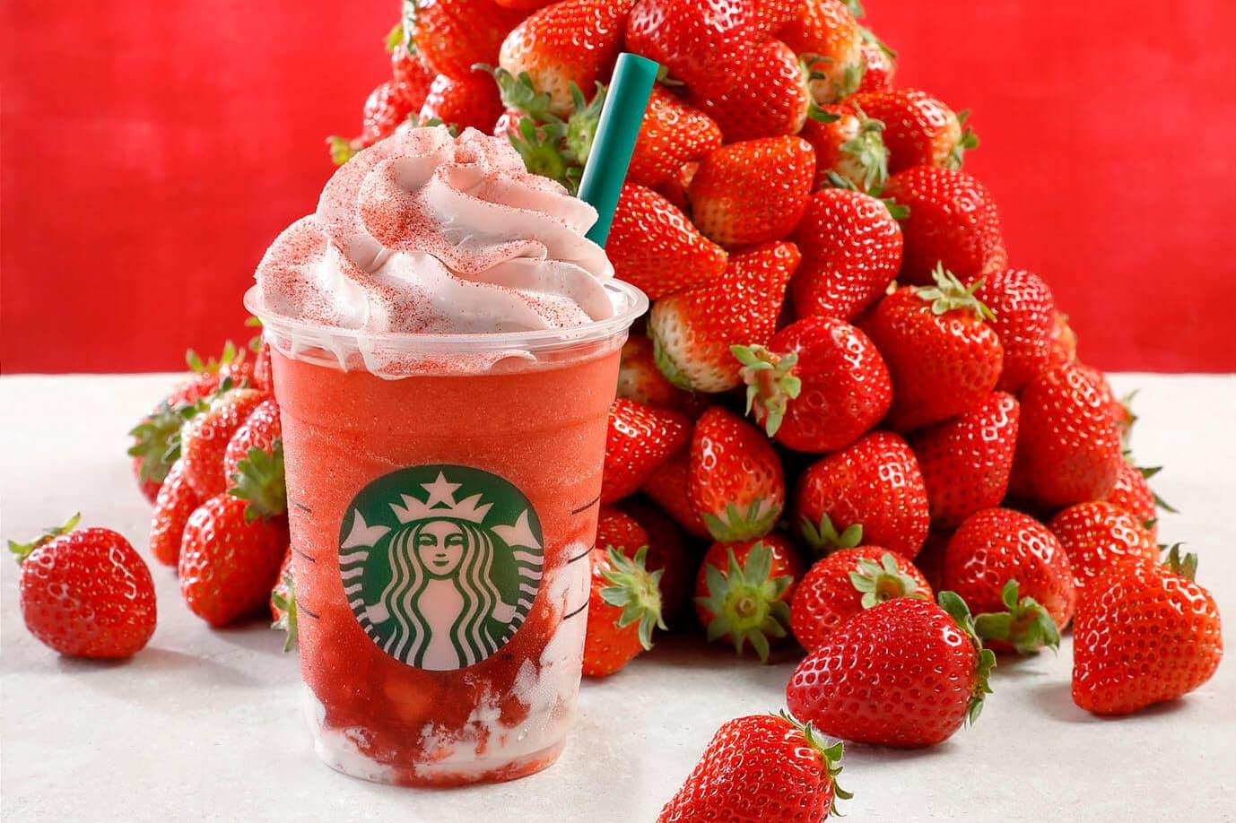 日本 Starbucks 推出全新「草莓星冰樂」