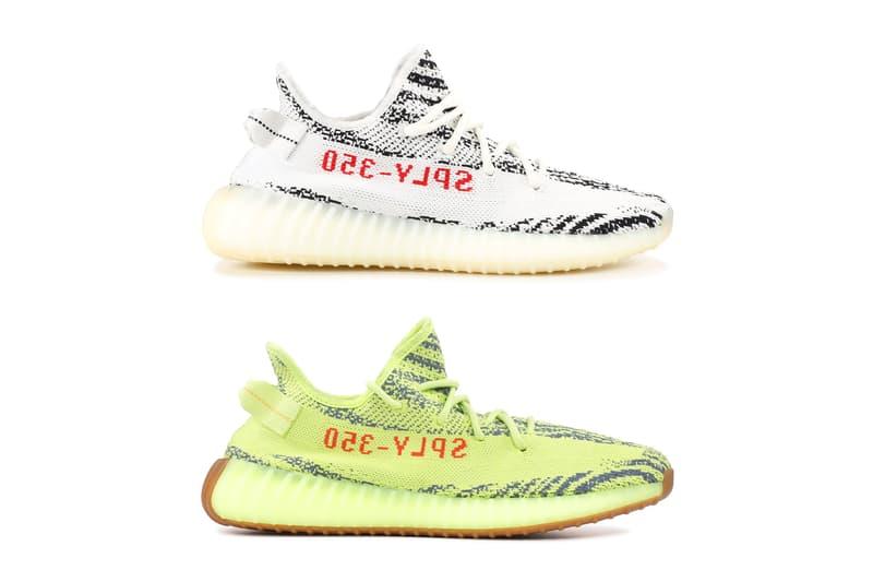 adidas Originals YEEZY BOOST 350 V2「Zebra」及「Semi Frozen Yellow」計劃再度補貨