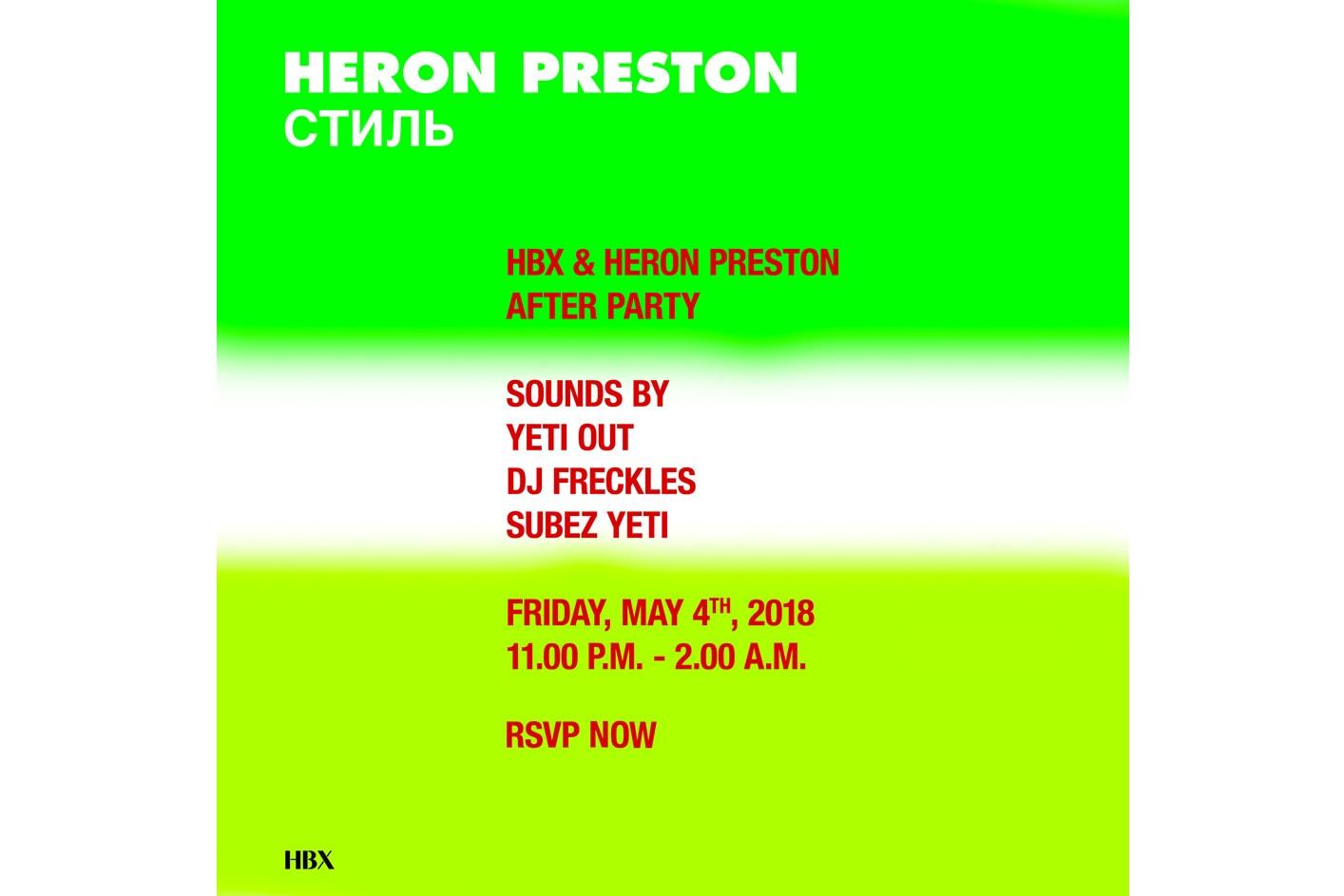 Heron Preston 將於香港開設期間限定店