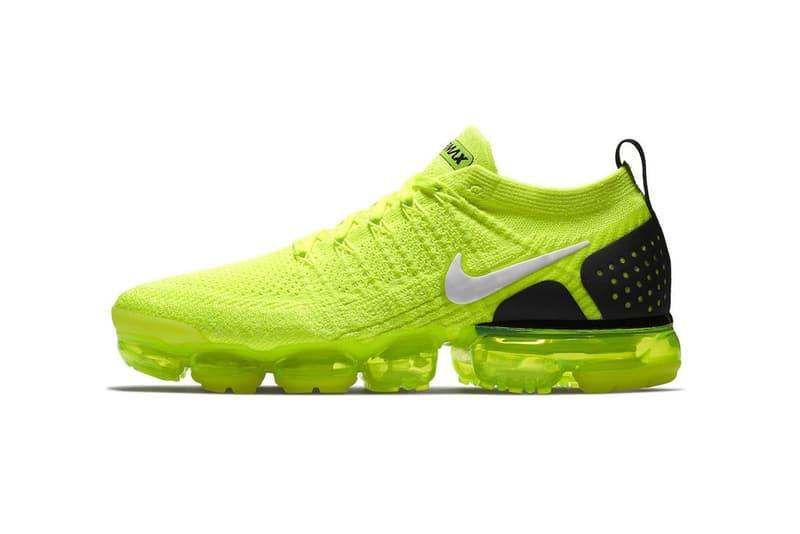 漆黑中的螢光綠-Nike Air VaporMax 2 Flyknit「Volt」官方正式相片釋出