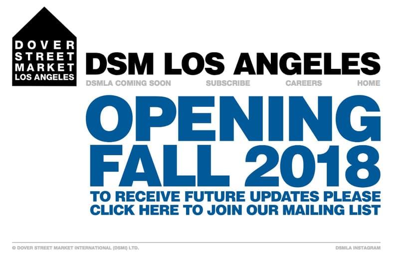 Dover Street Market Los Angeles 官方網站正式上線