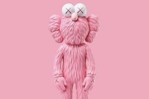 眾星攜粉色版 KAWS「BFF」毛絨公仔驚喜亮相!
