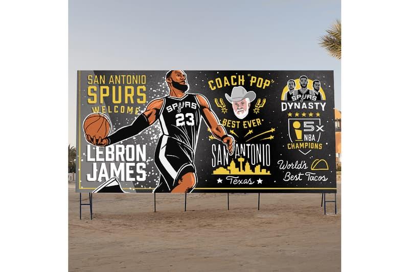 NBA 30 隊打造的 LeBron James「招募廣告牌」會長這樣!?