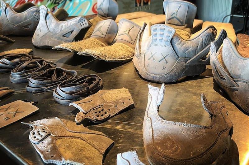 KAWS x Air Jordan 4 聯乘鞋款竟慘遭分解