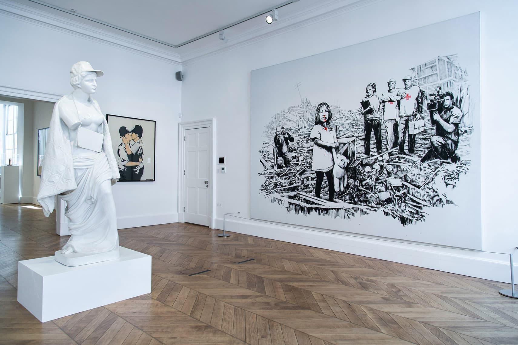 走進神秘街頭藝術家 Banksy 倫敦非官方展覽「Greatest Hits」