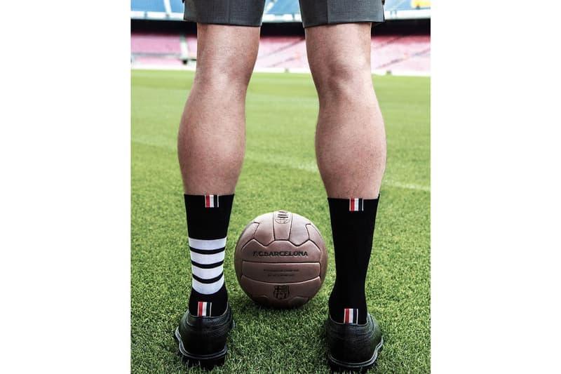 Thom Browne 與 FC Barcelona 合作官方場外制服