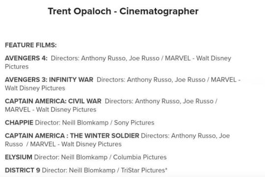 Marvel Studios 電影攝影師洩露《復仇者聯盟 4》的電影名稱?!
