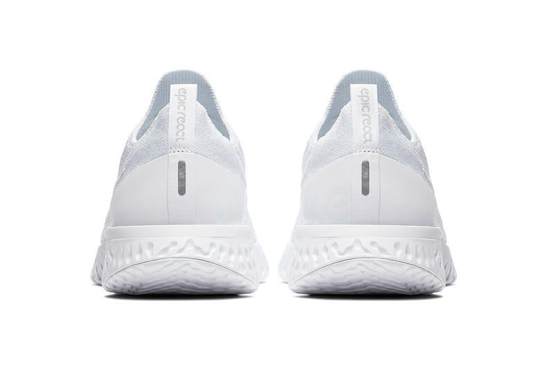 Nike Epic React Flyknit 全新「Triple White」配色正式上架