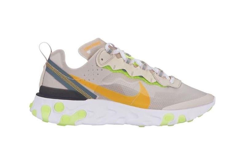 搶先預覽 Nike React Element 87 全新配色設計
